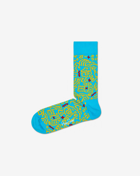 Happy Socks Keith Haring All Over Zokni